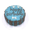 Classic Dog Birthday Cake Blue