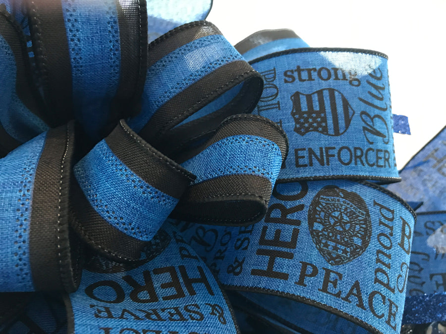 Police Thank You for your Service Door Wreath