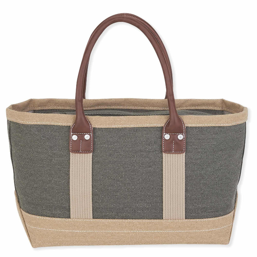 Cotton Canvas Medium Boat Tote by Sun N Sand - Khaki