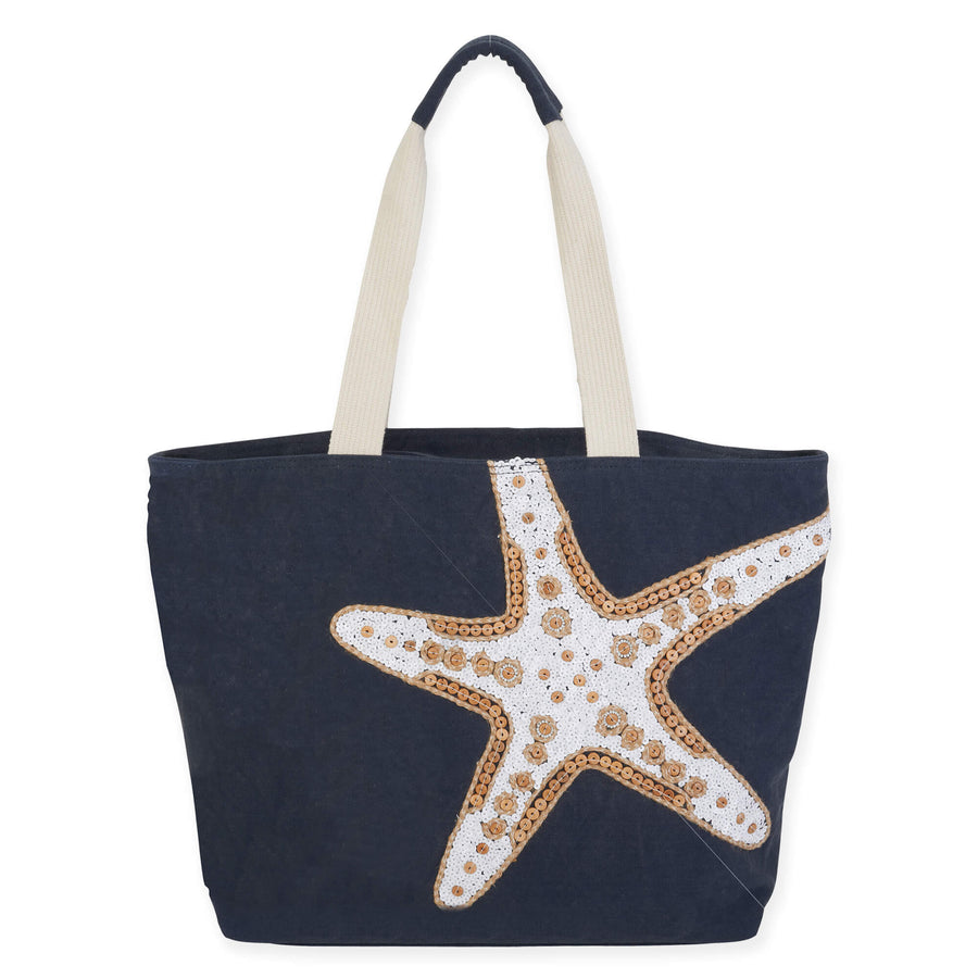 Sea Star Shoulder Tote by Sun N Sand - Blue
