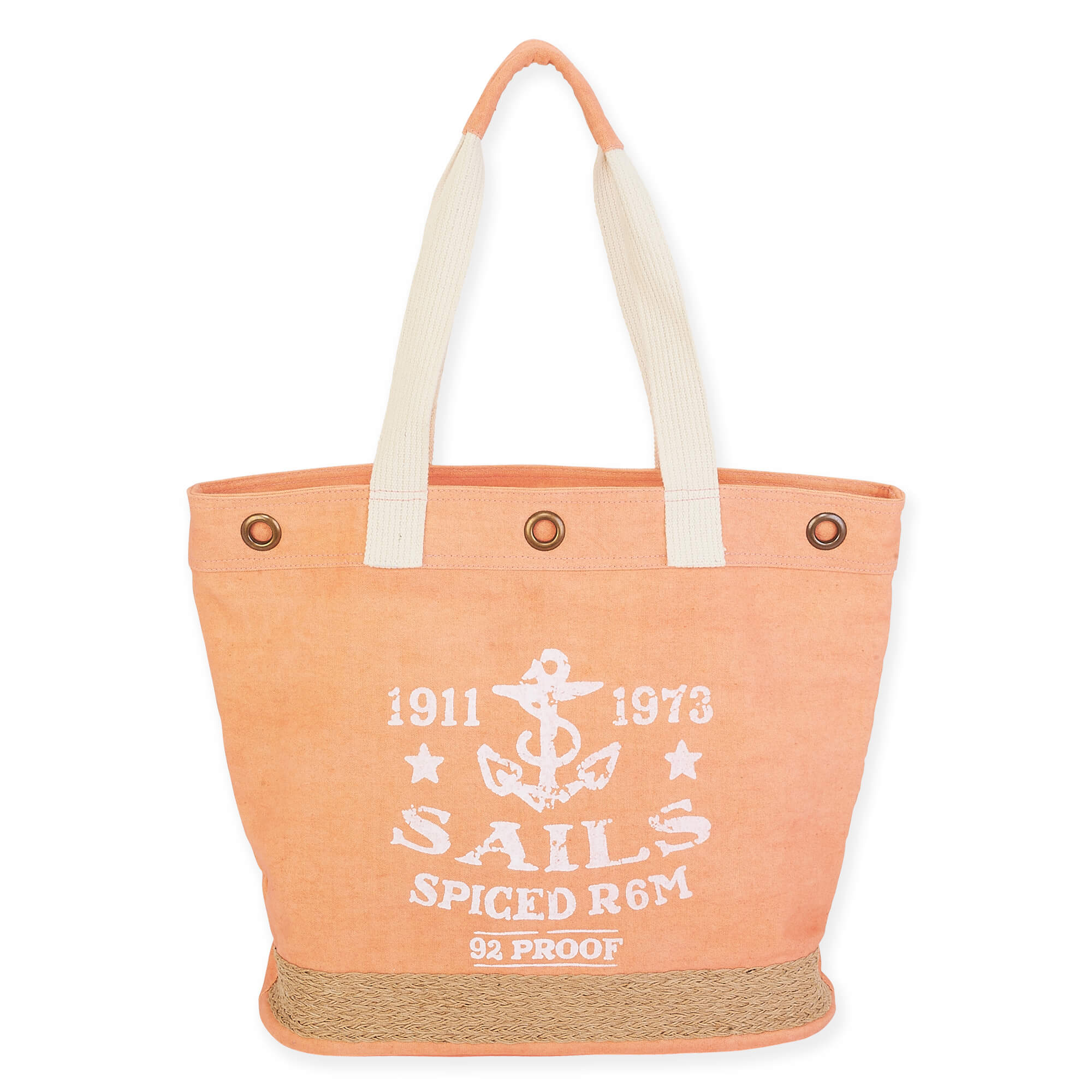 Sails Away Shoulder Tote by Sun N Sand - Coral