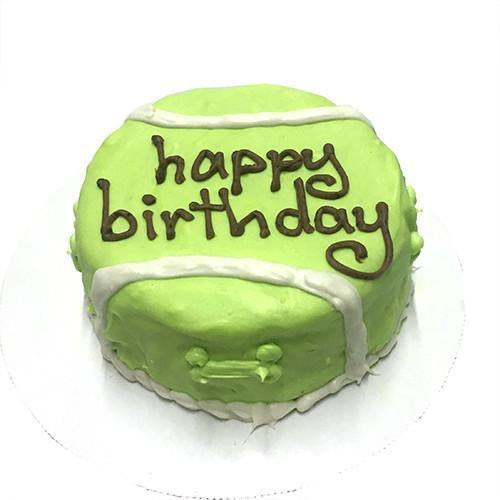 Tennis Ball Dog Cake