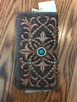 Montana West Embroidered Secretary Style Wallet