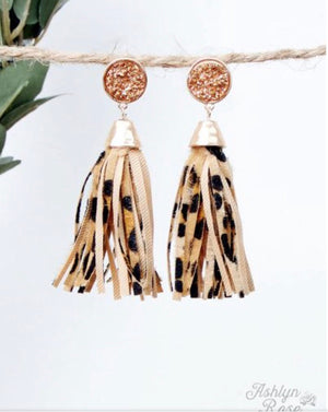Leopard and Luxe Earrings