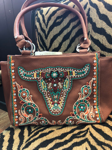Montana West Embroidered Concealed Carry Purse