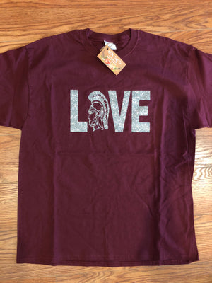 "Nowata Ironmen ""Love"" Crew Neck T-shirt"