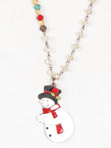 Singing Snowman Necklace