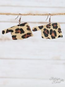 Leopard Hide Oklahoma Earrings