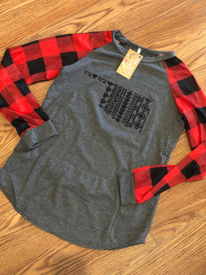 Plaid OKlahoma Shirt