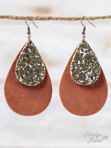 Leather Sparkle Earrings
