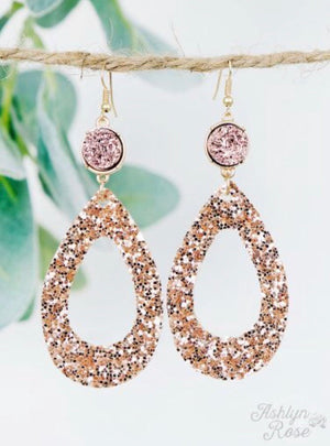 Attention to Detail Rose Gold Earrings
