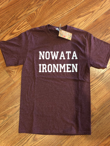 Nowata Ironmen Heather Maroon T-shirt