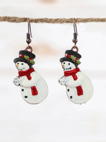 Singing Snowmen Earrings