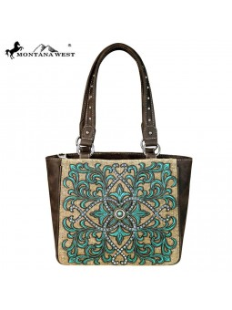 Montana West Concealed Carry Brown with Turquois stitching
