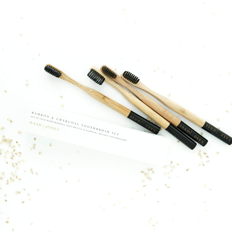 Nash and Jones Bamboo & Charcoal Toothbrushes
