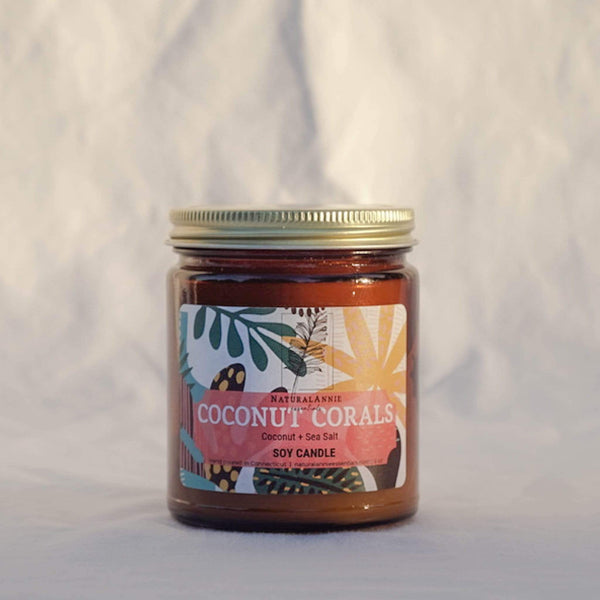 NaturalAnnie Essentials Coconut Coral Soy Candle