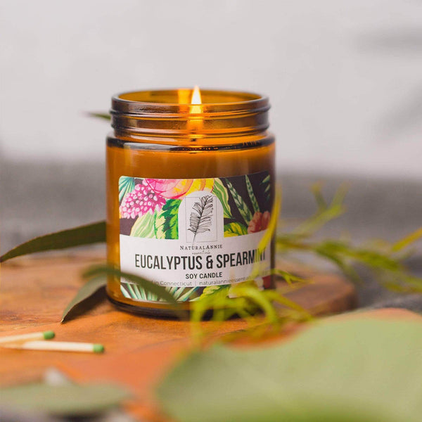 NaturalAnnie Essentials Eucalyptus & Spearmint Soy candle