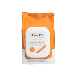 The Honey Pot Co. Normal Wipes are not only great for intimate parts but also the face and body. Powered by lavender, aloe vera, and lemon peel these wipes will keep you feeling fresh all day.