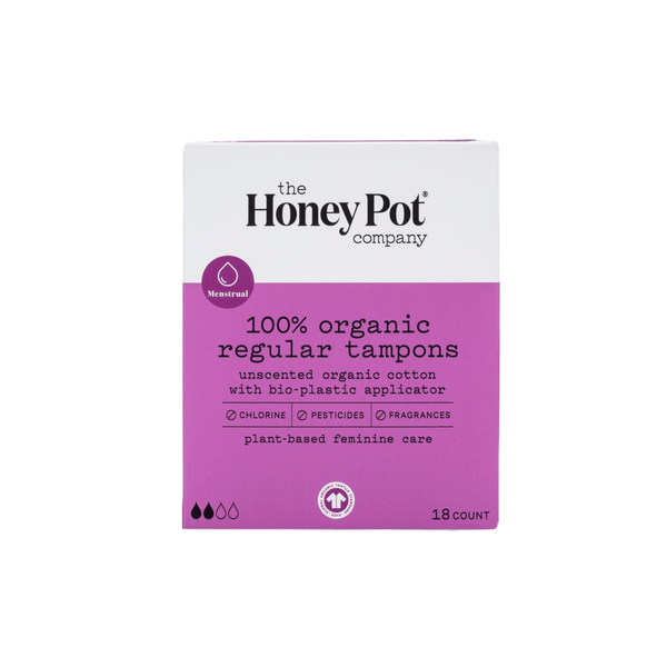 The Honey Pot Co. Feminine Wellness Regular Organic Tampons