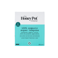The Honey Pot Co. Feminine Wellness Super Organic Tampons