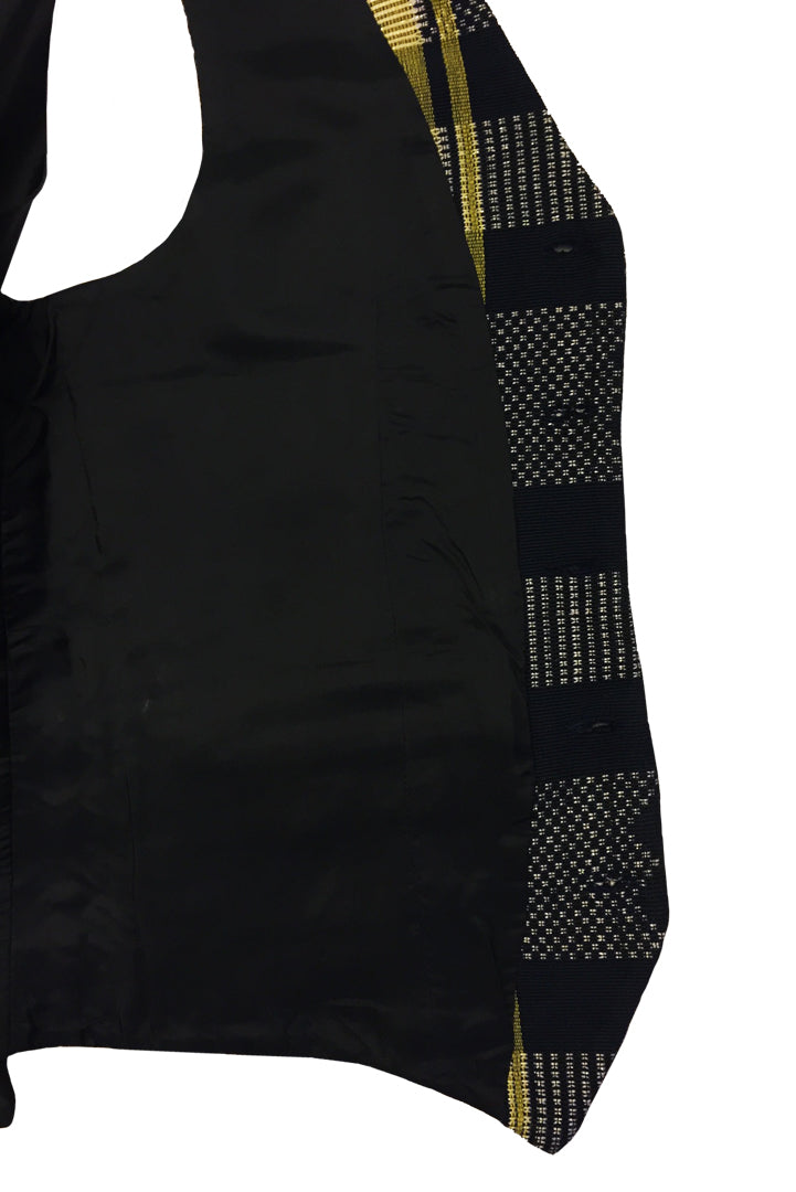 Manjak Black and Yellow Waistcoat