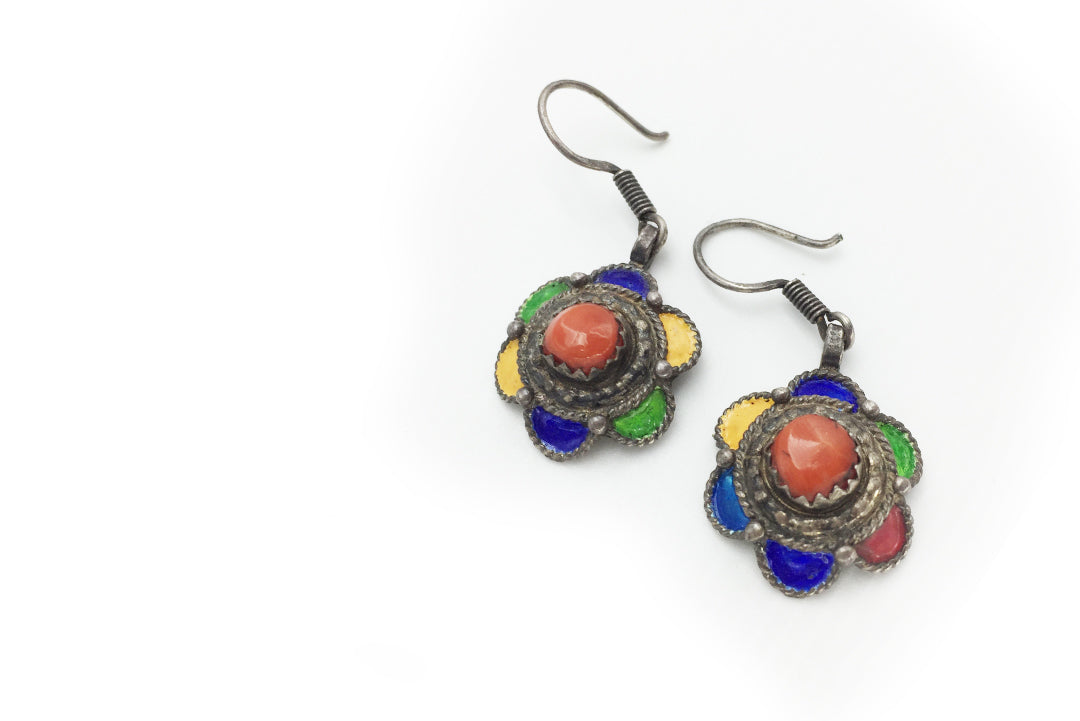 Earrings Flower Colors