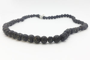 Necklace Black Clay