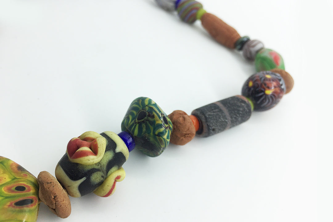 Necklace Colored Clay