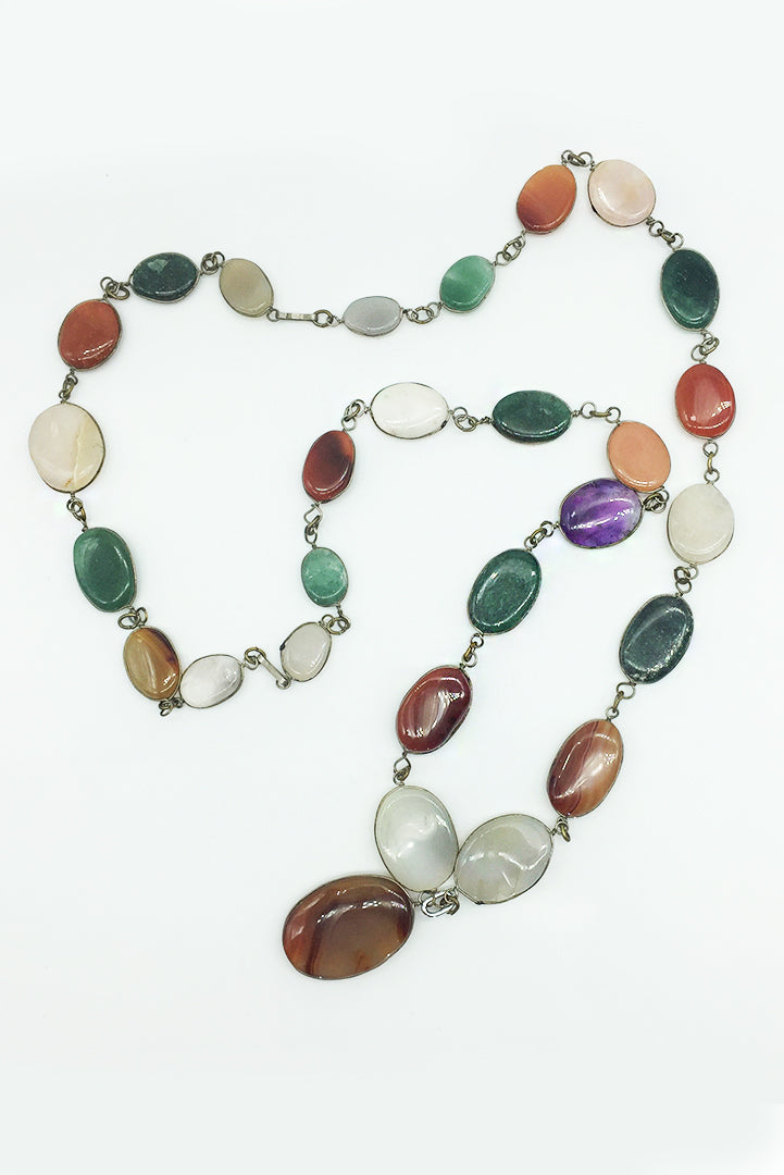 Necklace Colors Flat Stone