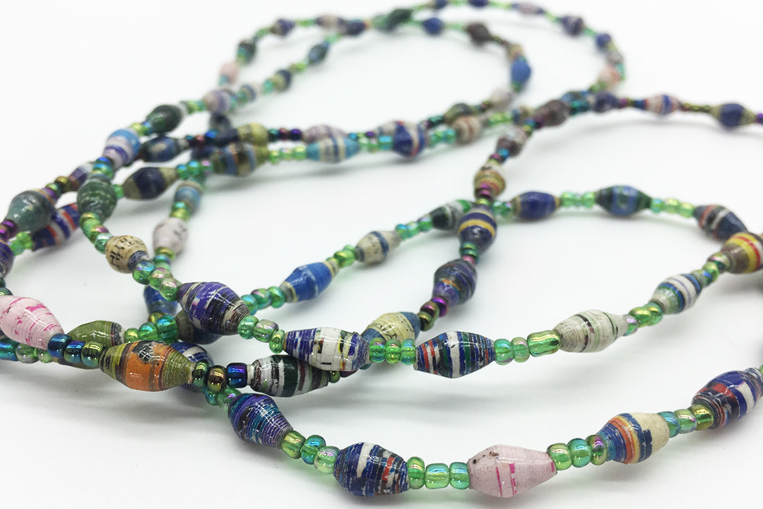 Necklace Glass Colored