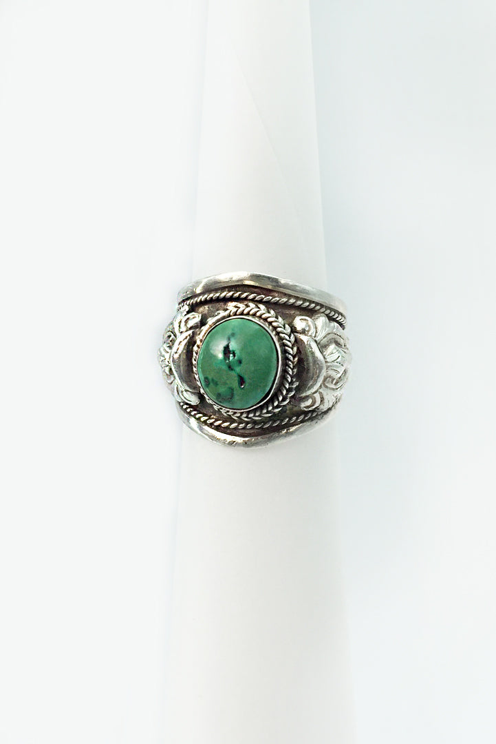 Ring Green Turquoise Stone