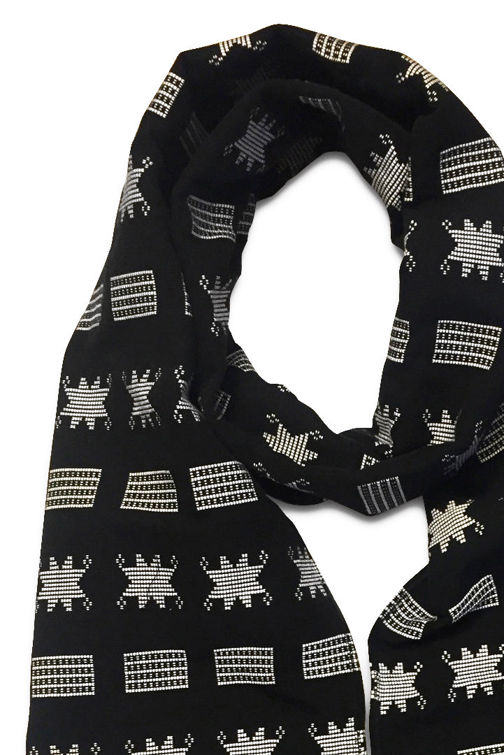 Manjak Scarf Black White