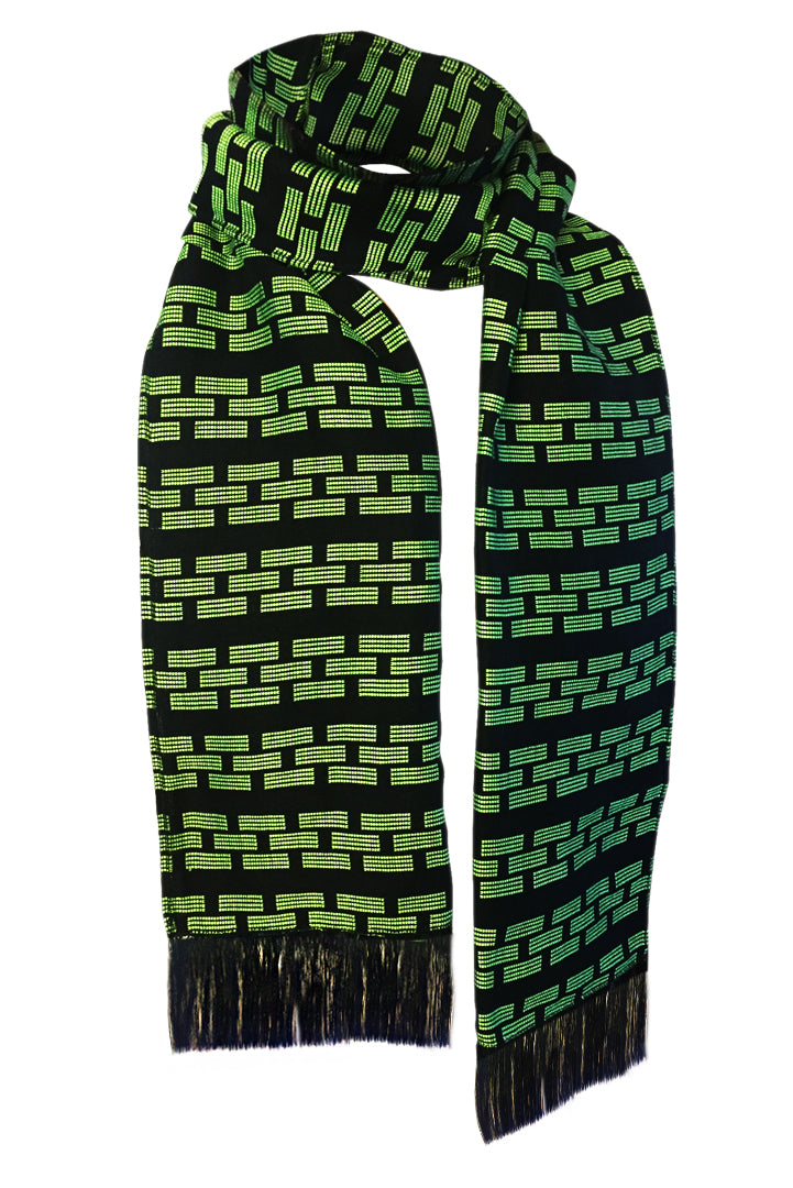 Manjak Scarf - Green Black