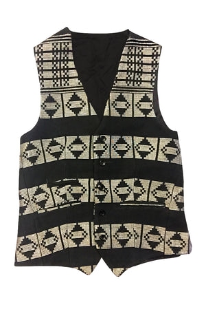 Manjak Black and White Waistcoat
