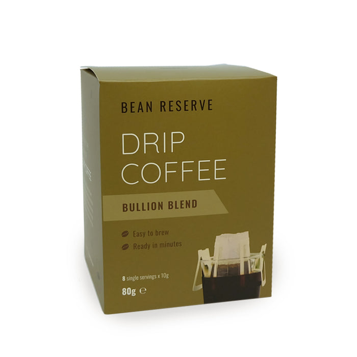 Drip Coffee Bags | Bullion Blend (8 Drip Bags)