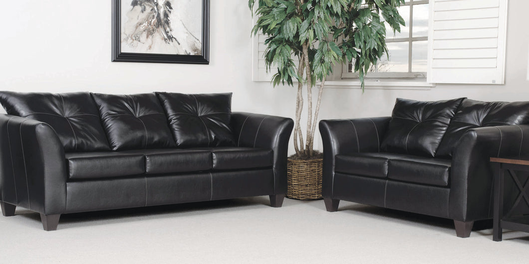 22S Ebony Sofa and Loveseat