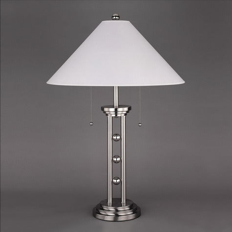 4L Chrome Table Lamp