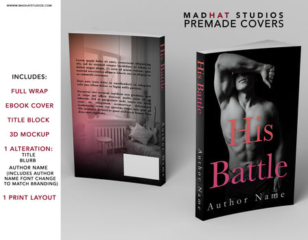 Premade Cover: His Battle