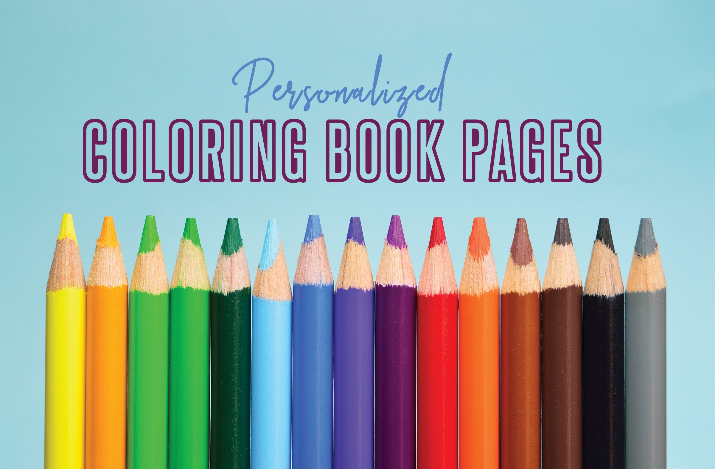 Personalized Coloring Book Pages
