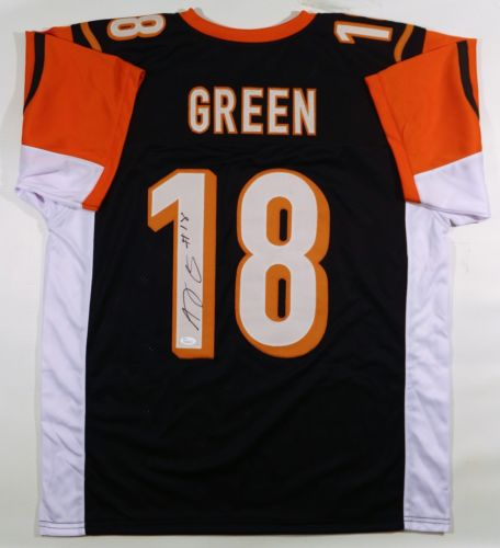 AJ GREEN SIGNED/AUTOGRAPHED BENGALS CUSTOM BLACK JERSEY JSA W AUTHENTICATED