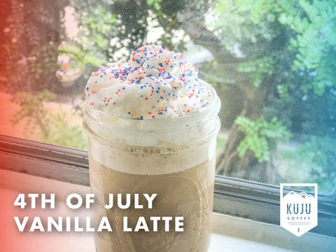 Summer Pour Over Coffee Recipe - 4th of July Vanilla Latte!