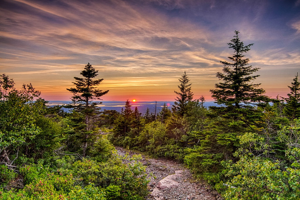 Sunset from the summit of Cadillac Mountain by Kelly Verdeck
