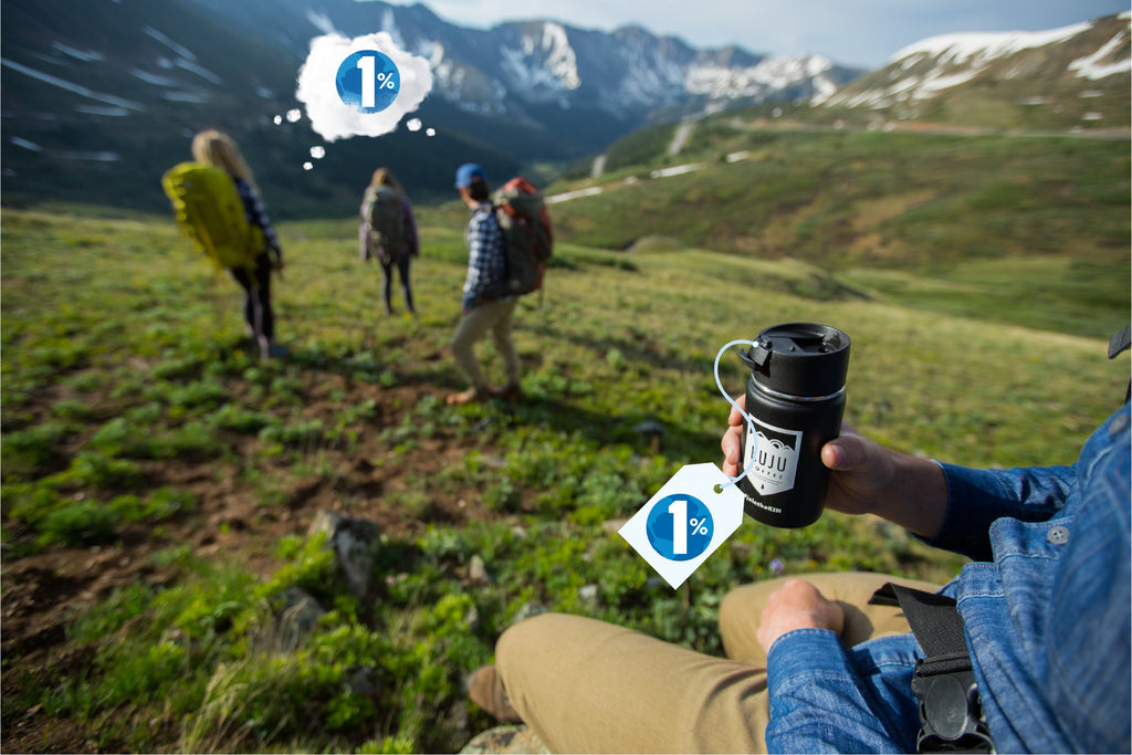 kuju coffee hydro flask 1% for the planet