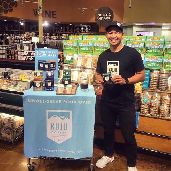 kuju coffee co-founder justin at whole foods