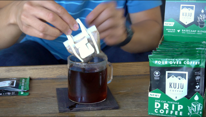 how to make single-serve pour over kuju coffee