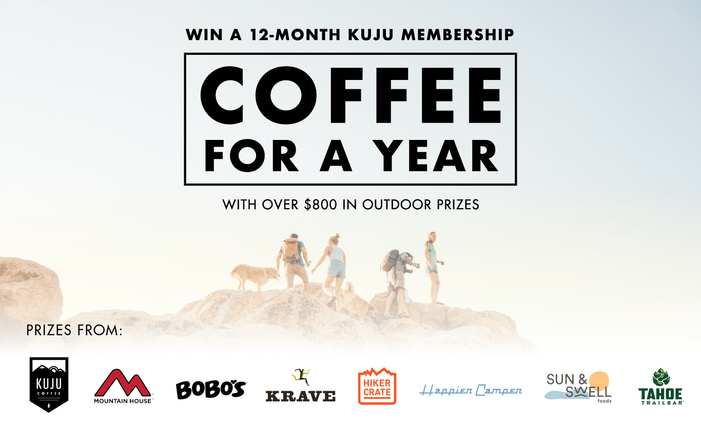 win a 12 month kuju membership and coffee for a year