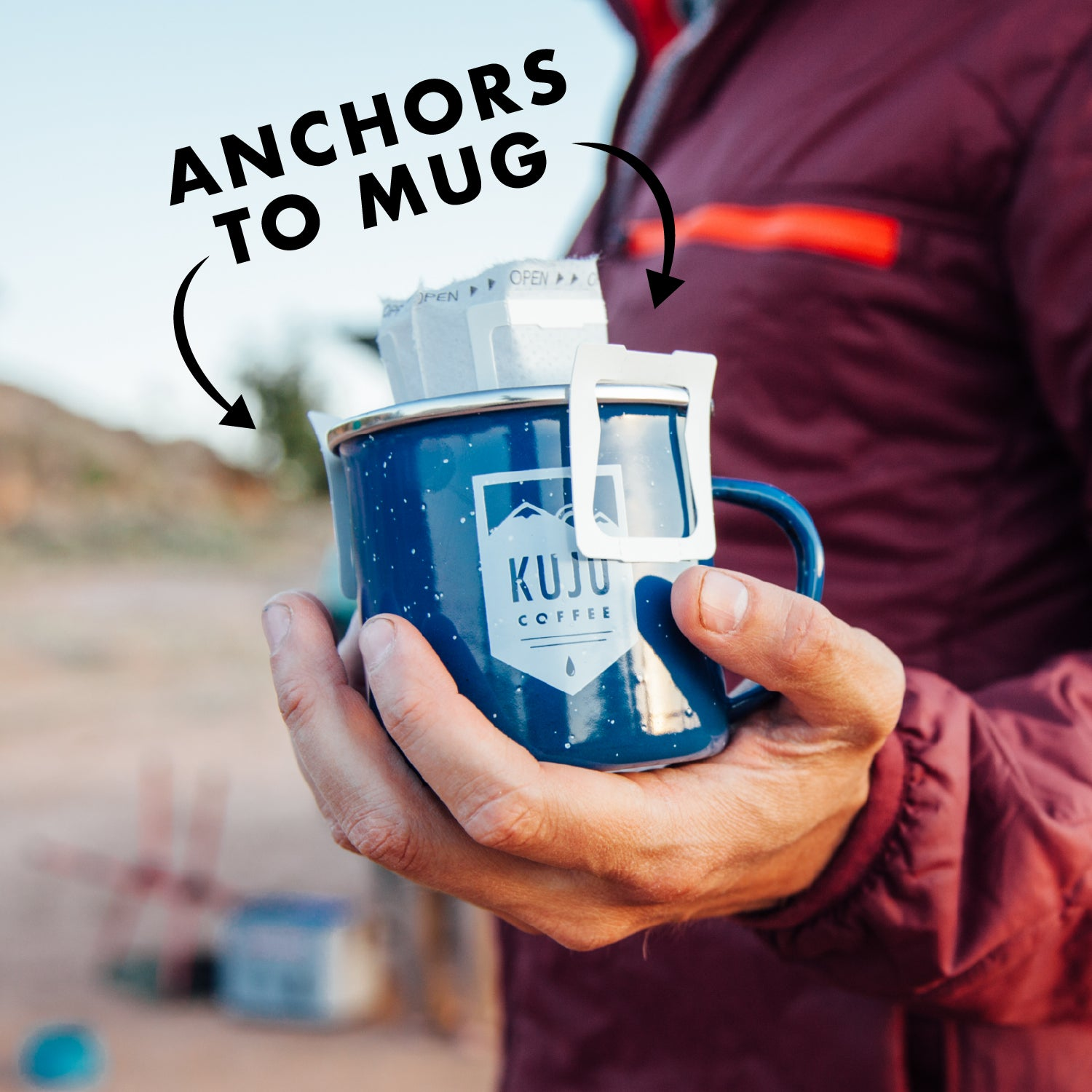 pour over anchors to mug