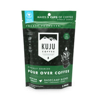 kuju coffee travel 5 pack single serve pour over basecamp blend medium roast