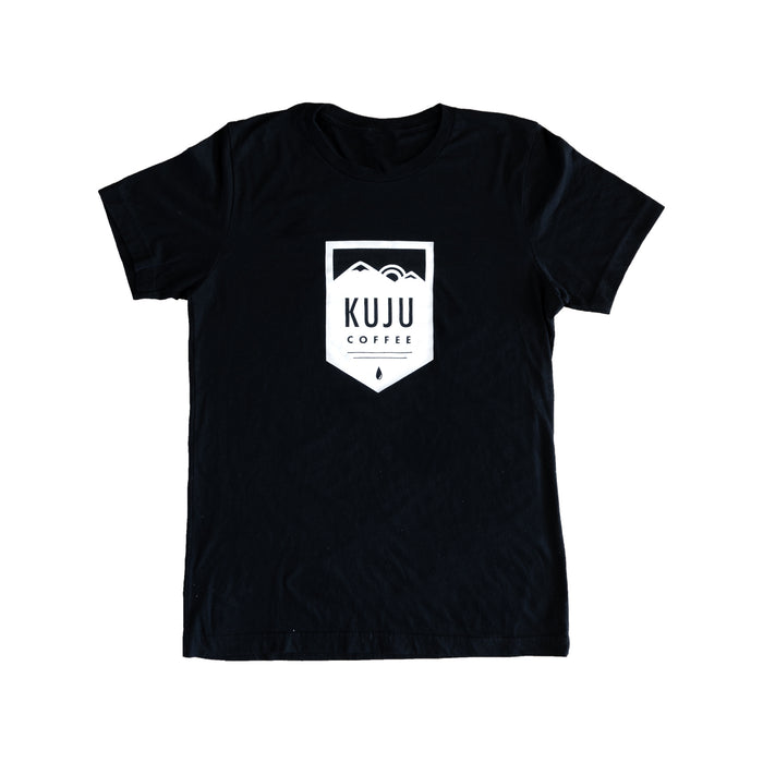 kuju coffee logo t shirt black outdoors