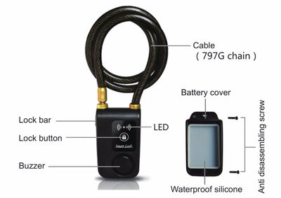 Premium Bluetooth Bike Lock